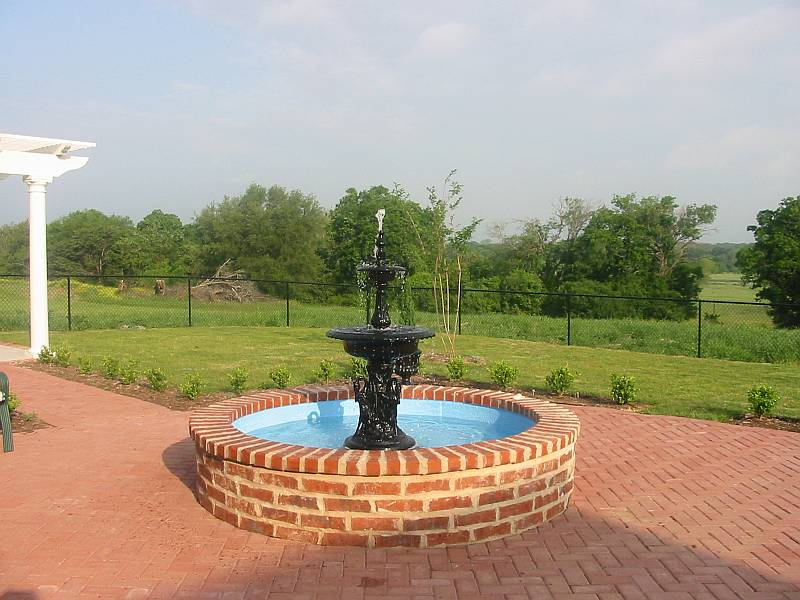 2 Tier Swan Fountain With Arches, Round Bowls